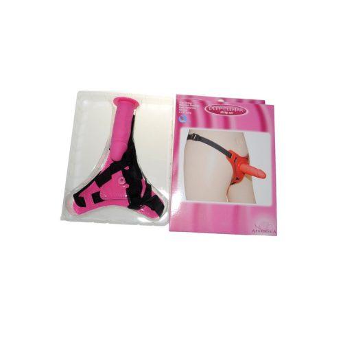 DEEP CLIMAX felcsatolható szilikon pink pénisz dildó