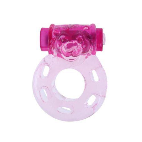 Rezgőgyűrű pink, átlátszó