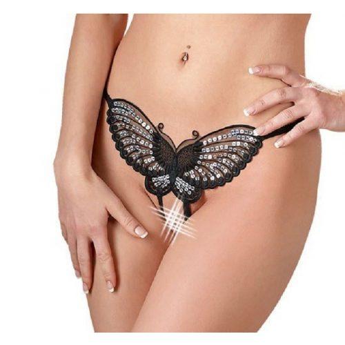 MANDY MYSTERY pillangós nyitott szexi tanga