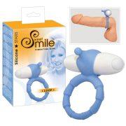SMILE Loop - vibrációs péniszgyűrű (kék)