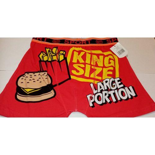 King Size Large Portion feliratú boxeralsó M-es